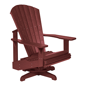 Generation Burgundy Swivel Adirondack Chair