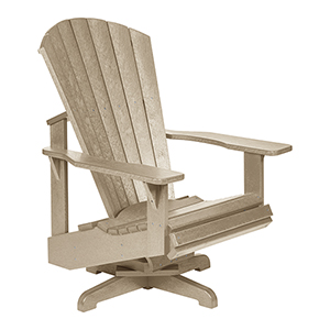 Generation Beige Swivel Adirondack Chair