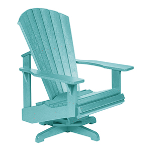 Generation Turquoise Swivel Adirondack Chair