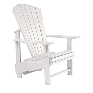 Generations Upright Adirondack Chair-White