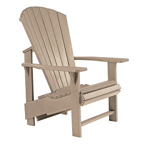 Generations Upright Adirondack Chair-Beige