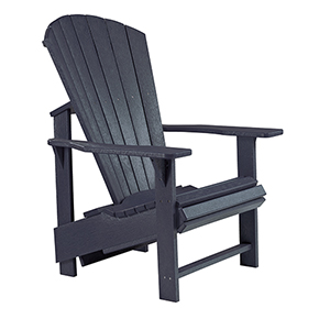 Generations Upright Adirondack Chair-Black