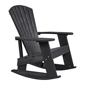 Generations Adirondack Rocking Chair-Black
