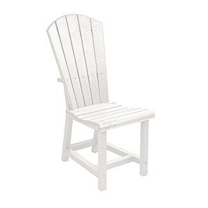 Generations Dining Adirondack Style Side Chair-White