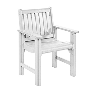 Generations Dining Slat Back Style Arm Chair-White