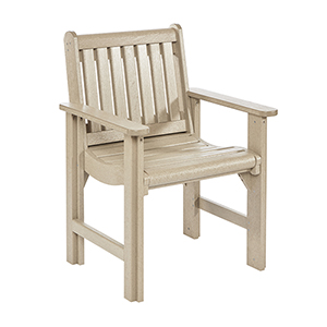 Generations Dining Slat Back Style Arm Chair-Beige