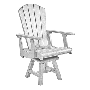 Generation White Addy Swivel Dining Arm Chair