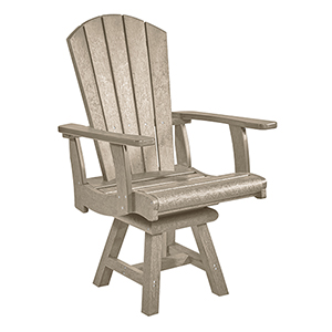 Generation Beige Addy Swivel Dining Arm Chair