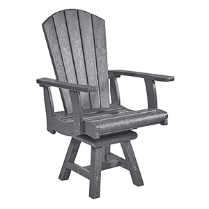 Generation Slate Grey Addy Swivel Dining Arm Chair