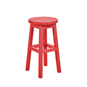 Generation Red Patio Counter Stool