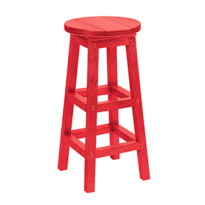 Generations Swivel Bar Stool-Red