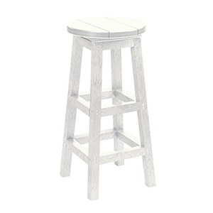 Generations Swivel Bar Stool-White