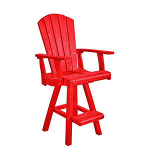 Generation Red Swivel Pub Arm Chair