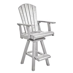 Generation White Swivel Pub Arm Chair