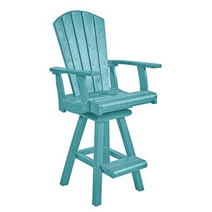 Generation Turquoise Swivel Pub Arm Chair