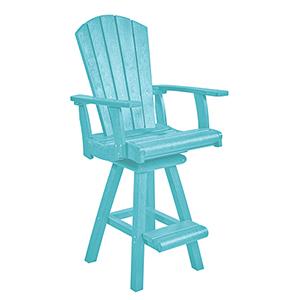 Generation Aqua Swivel Pub Arm Chair