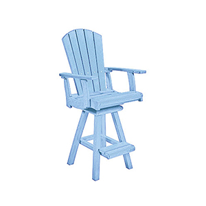 Generation Sky Blue Swivel Pub Arm Chair