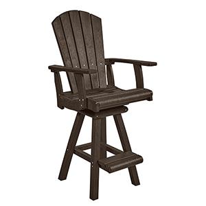 Generation Chocolate Swivel Pub Arm Chair