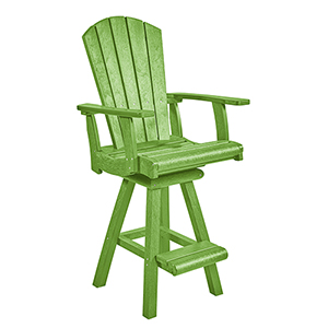 Generation Kiwi Green Swivel Pub Arm Chair