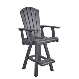 Generation Slate Grey Swivel Pub Arm Chair