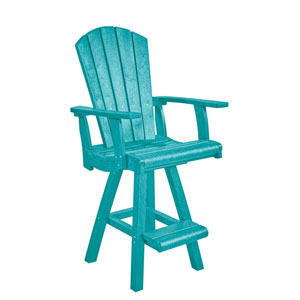 Generation Turquoise Pub Arm Chair