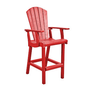 Generation Red Patio Pub Arm Chair