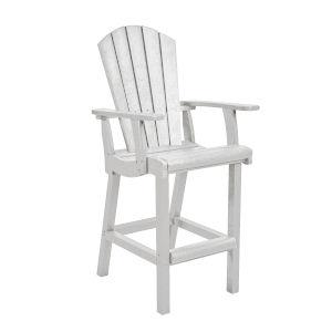 Generation White Patio Pub Arm Chair