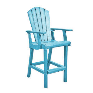 Generation Turquoise Patio Pub Arm Chair