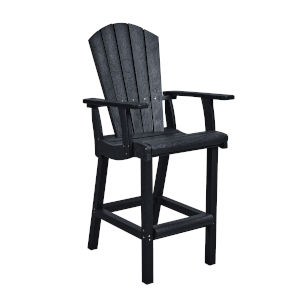 Generation Black Patio Pub Arm Chair