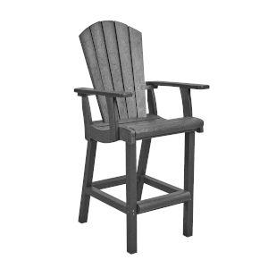 Generation SlateGray Patio Pub Arm Chair