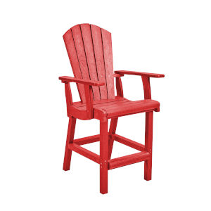 Generation Red Patio Counter Height Arm Chair