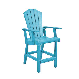 Generation Turquoise Patio Counter Height Arm Chair