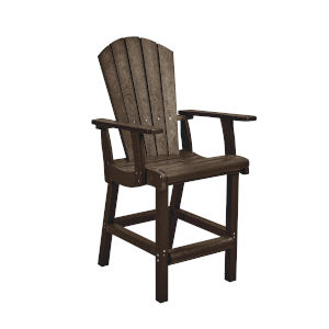 Generation Chocolate Patio Counter Height Arm Chair