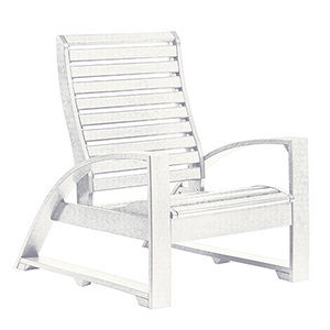 St Tropez Lounger Chair-White