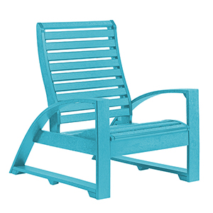 St. Tropez Turquoise Lounge Chair