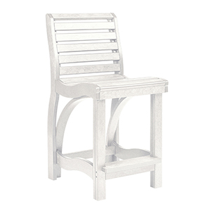 St Tropez Counter Chair-White
