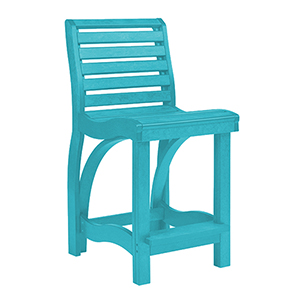 St. Tropez Turquoise Counter Chair
