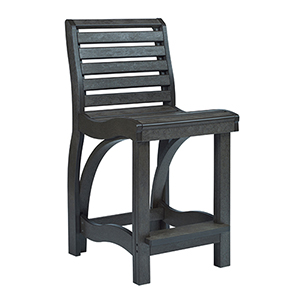 St Tropez Counter Chair-Black