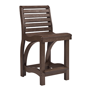 St Tropez Counter Chair -Chocolate