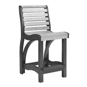 St. Tropez Slate and Light Gray 18-Inch Counter Chair