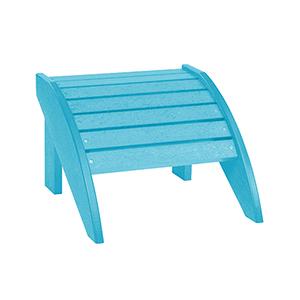 C.R. Plastics Turquoise Footstool