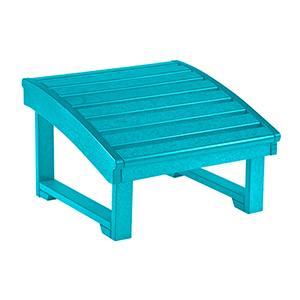 St. Tropez Turquoise Footstool
