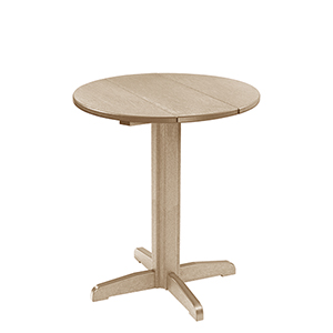 Generation 32-Inch Beige Round Table Top with a 40-Inch Pub Pedestal Base