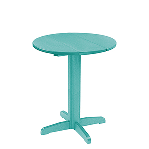 Generation 32-Inch Turquosie Round Table Top with a 40-Inch Pub Pedestal Base