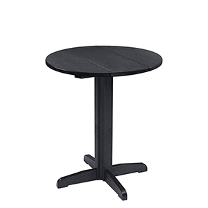 Generation 32-Inch Black Round Table Top with a 40-Inch Pub Pedestal Base
