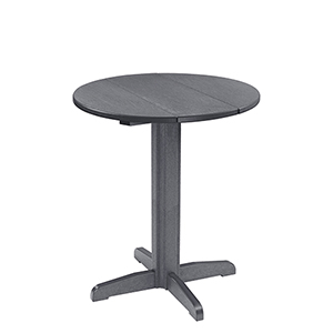 Generation 32-Inch Slate Grey Round Table Top with a 40-Inch Pub Pedestal Base