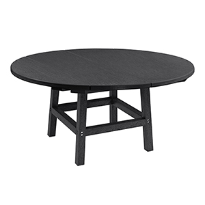 Generation Black 40-Inch Round Table Top with 17-Inch Cocktail Table Legs