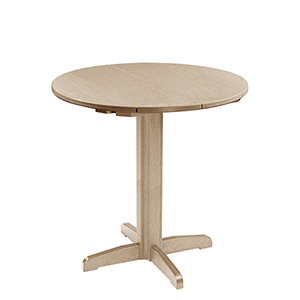 Generation Beige 40-Inch Round Table Top with 40-Inch Pub Pedestal Base