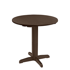 Generation Chocolate 40-Inch Round Table Top with 40-Inch Pub Pedestal Base
