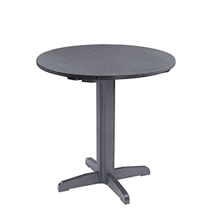 Generation Slate Grey 40-Inch Round Table Top with 40-Inch Pub Pedestal Base
